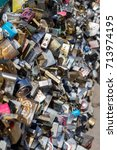 big collection of locks | Shutterstock . vector #713974195
