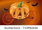 pumpkin carriage | Shutterstock .eps vector #713982646