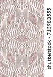 seamless guilloche vector...   Shutterstock .eps vector #713983555