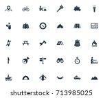 vector illustration set of... | Shutterstock .eps vector #713985025