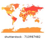 world map in warm colors. high... | Shutterstock .eps vector #713987482
