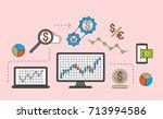 stock market trade concept....   Shutterstock .eps vector #713994586