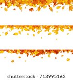 autumn banners set with golden... | Shutterstock . vector #713995162