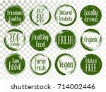 vector organic labels  bio... | Shutterstock .eps vector #714002446