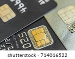 close up of a credit card with... | Shutterstock . vector #714016522