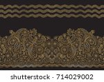 vector seamless pattern in... | Shutterstock .eps vector #714029002
