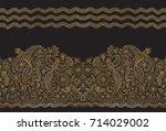 vector seamless pattern in... | Shutterstock .eps vector #714029002