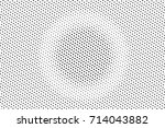 black and white dotted halftone ... | Shutterstock .eps vector #714043882