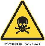 toxic sign | Shutterstock .eps vector #714046186