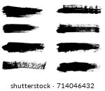 collection of artistic grungy... | Shutterstock . vector #714046432