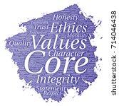 conceptual core values... | Shutterstock . vector #714046438