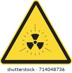 radiation sign | Shutterstock .eps vector #714048736