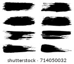 vector collection of artistic... | Shutterstock .eps vector #714050032
