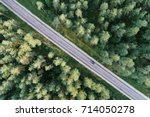 aerial view of green pine... | Shutterstock . vector #714050278