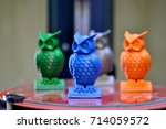 the models of owls created on...   Shutterstock . vector #714059572