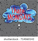 i hate mondays. poster ... | Shutterstock .eps vector #714060142