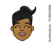 young woman cartoon   Shutterstock .eps vector #714064306