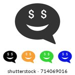 rich smiley message icon.... | Shutterstock .eps vector #714069016