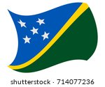 solomon islands flag moved by... | Shutterstock .eps vector #714077236