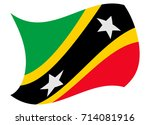 saint kitts flag moved by the... | Shutterstock .eps vector #714081916