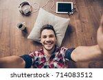 funky swag selfie  break  relax ... | Shutterstock . vector #714083512