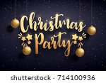 vector illustration of xmas... | Shutterstock .eps vector #714100936