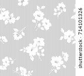 flower illustration pattern | Shutterstock .eps vector #714101326