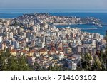 panoramic view to city of... | Shutterstock . vector #714103102