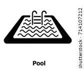 pool icon. simple illustration... | Shutterstock .eps vector #714107212