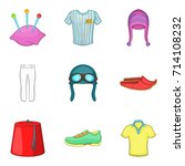 traditional clothes icon set....   Shutterstock .eps vector #714108232