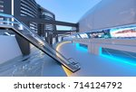 3d cg rendering of the future... | Shutterstock . vector #714124792