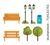 cityscape set elements icons | Shutterstock .eps vector #714131752