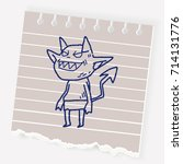 devil doodle | Shutterstock .eps vector #714131776