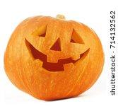funny jack o lantern halloween... | Shutterstock . vector #714132562