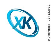 letter xk logotype design for... | Shutterstock .eps vector #714133912