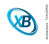 letter xb logotype design for... | Shutterstock .eps vector #714133942