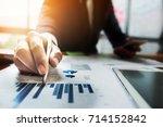 close up businessman hand...   Shutterstock . vector #714152842