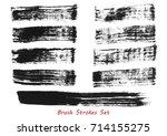 grungy brush strokes set over... | Shutterstock .eps vector #714155275
