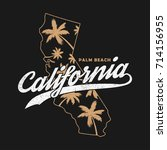 california typography graphics... | Shutterstock .eps vector #714156955