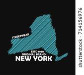 new york typography graphics...   Shutterstock .eps vector #714156976