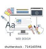 web design flat design. vector...