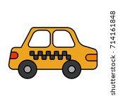 cab car transport public... | Shutterstock .eps vector #714161848