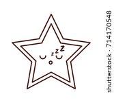 kawaii christmas star ornament... | Shutterstock .eps vector #714170548