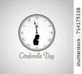 cinderella day vector... | Shutterstock .eps vector #714175138
