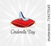 cinderella day vector... | Shutterstock .eps vector #714175165
