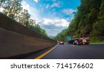 pov point of view   driving... | Shutterstock . vector #714176602