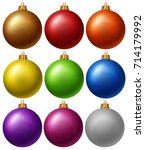 Christmas Balls In Nine Colors...