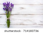 lavender flowers  bouquet ... | Shutterstock . vector #714183736