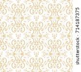 baroque floral pattern vector... | Shutterstock .eps vector #714187375