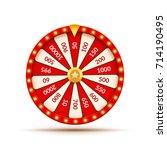 wheel of fortune lottery luck... | Shutterstock .eps vector #714190495